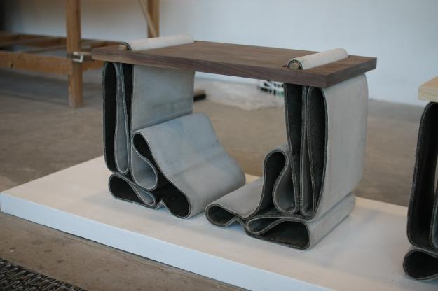 Folded Concrete Stools